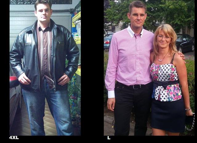 László az életmódváltás előtt és ma párjával