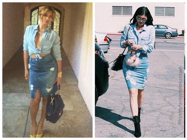 A dupla farmer trend idén nagyon hasít, a celebek közül talán Rihanna viselte először a szoknya-ing kombinációt belőle.
