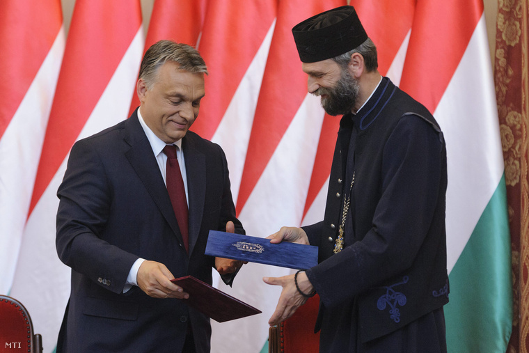 Orbán Viktor miniszterelnök és Kocsis Fülöp a Hajdúdorogi Metropólia érseke