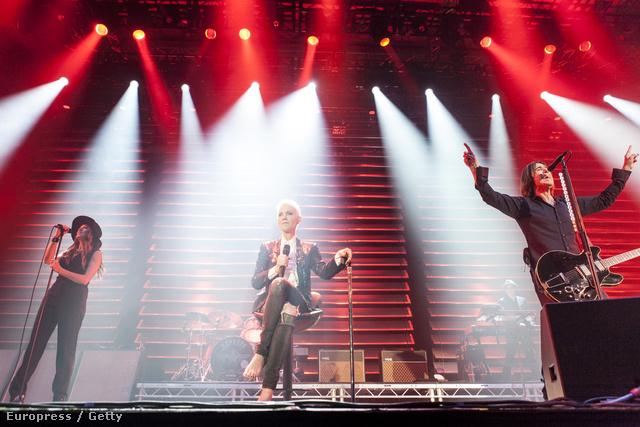 A Roxette a turné egy korábbi állomásán, Barcelonában
