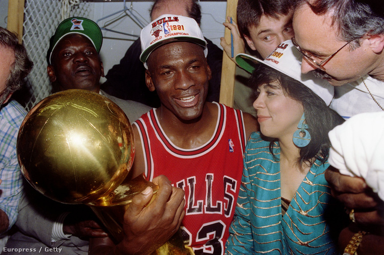 Michael Jordan az 1991-es NBA döntő után.