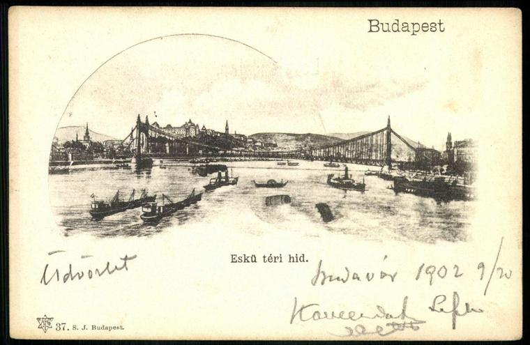 Az Eskü téri híd, 1902.