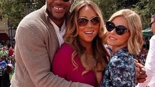 Mariah Carey furcsát csinált a mellével Disneylandben
