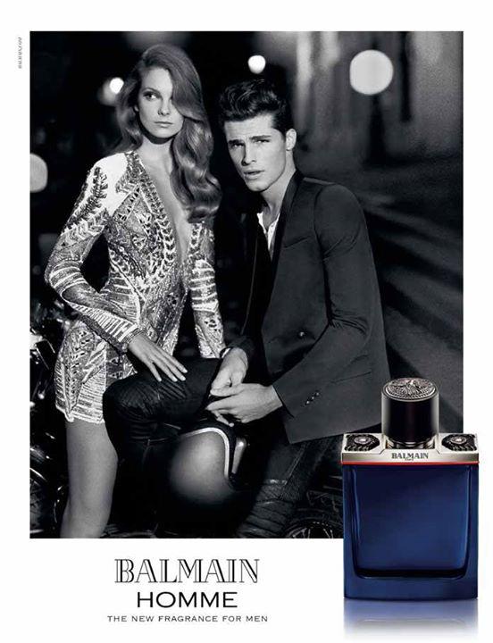 Mihalik Enikő és Edward Wilding a Balmain parfüm arcai.