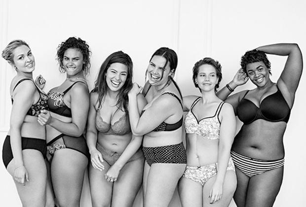 Lane Bryant #ImNoAngel  néven futó kampánya teltkarcsú nőknek.