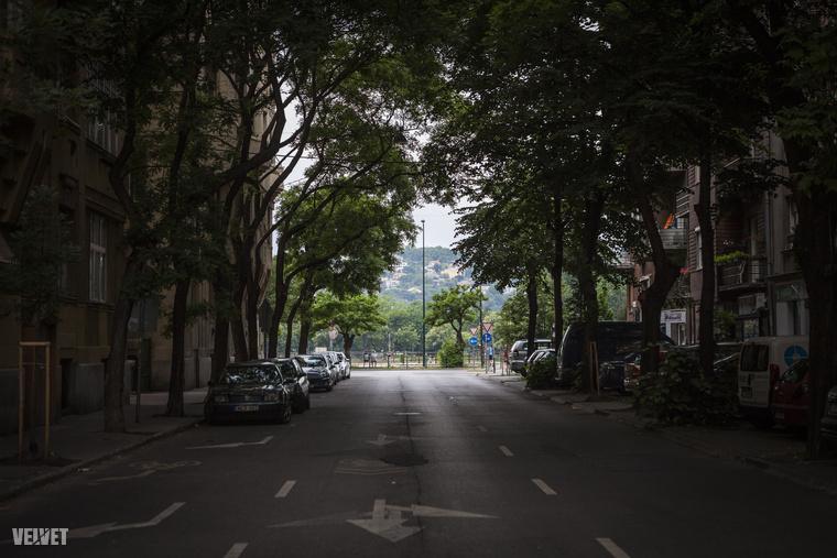 A kis utcák végén a budai oldal olyan, mintha egy tengerparti kisváros lenne.