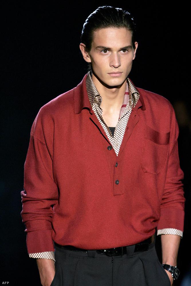 10 éve, azaz 2005-ben még így nézett ki egy átlagos férfimodell a Gucci divatbemutatóján