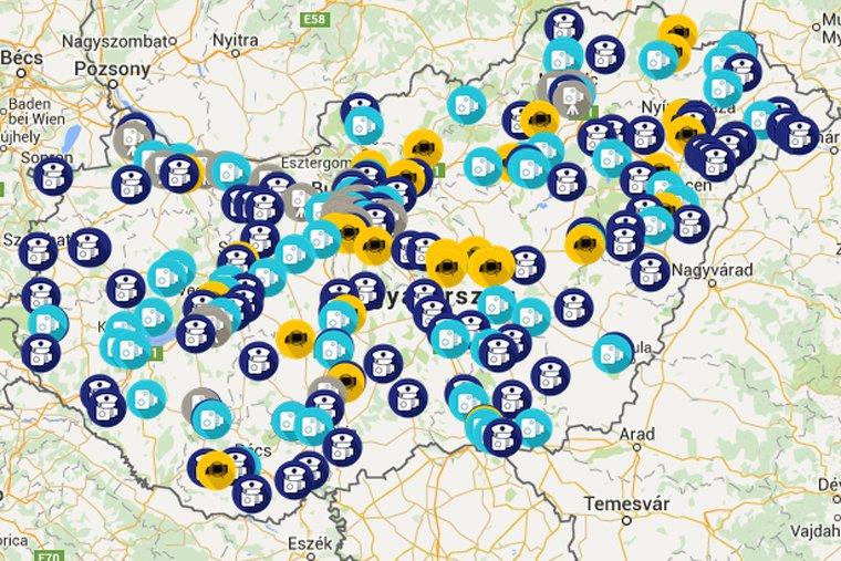 traffipax térkép totalcar Index   Tech   Mostantól térképen gyűjtik a trafikat