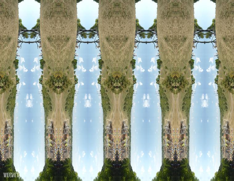 Ha kezdené elveszteni a fonalat: eredetileg fekvő, de állóba forgatott panorámaképből is lehet függőleges sormintát csinálni