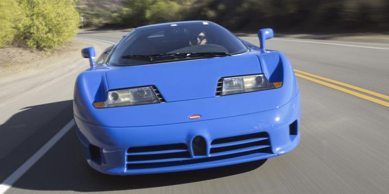 Bugatti EB110: Hogy miért ez a neve? Mert a szupersportkocsit a névadó Ettore Bugatti születésének 110