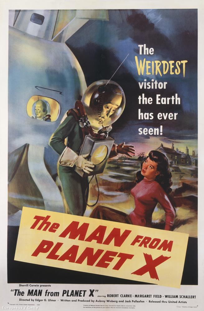 1951-re csak a földönkívüli személy alakult át, az elrendezés nem: a jobb alsó sarokban alél a nagymellű nő, balról jön a Rém, aki itt mintha egy radar lenne a nyakában, a másik űrlény meg bütykölni látszik valamit az űrhajón