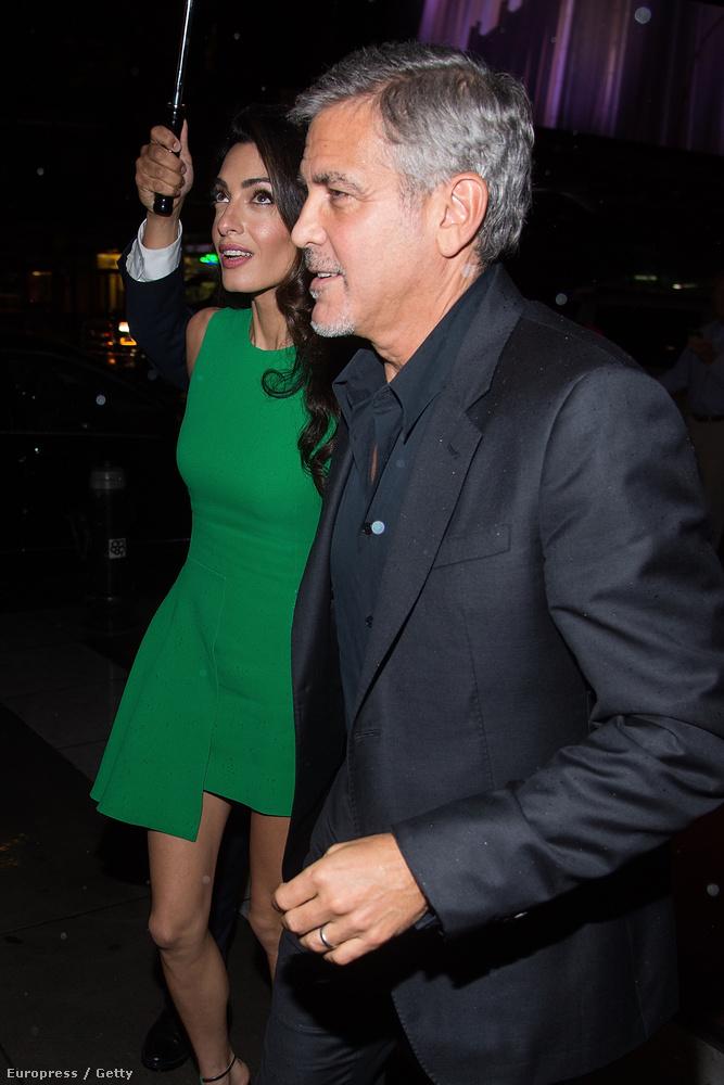 Először is megmutatnánk Amal Clooney zöld ruháját