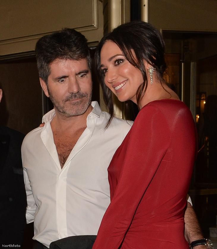 Simon Cowell és gyermekének anyja, Lauren Silverman október 4-én elmentek egy londoni celebbuliba