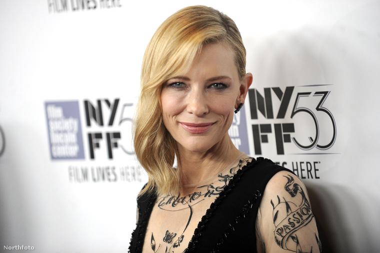 A következő képeken azt láthatják, ahogy Cate Blanchett színésznő, a beöntés nagy barátja, New Yorkban, az ottani filmfesztiválon népszerűsíti új filmjét, a Carolt.