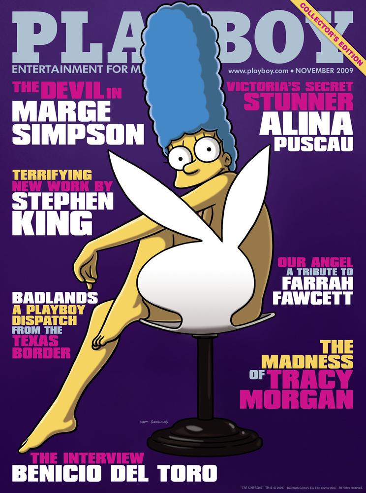 Például, amikor 2009 novemberében Marge Simpson volt a Playboy címlapján