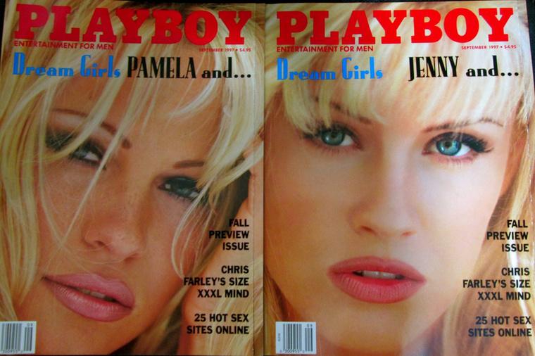 Egy évvel később szeptemberben Jenny McCarthyval, egy másik híres playmate-tel kaptak közös címlapot