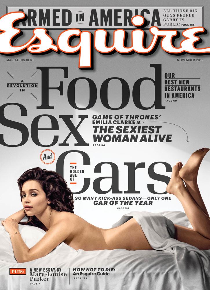 Most, hogy az Esquire a legszexibb nővé választotta, Emilia Clarke interjút adott a lapnak