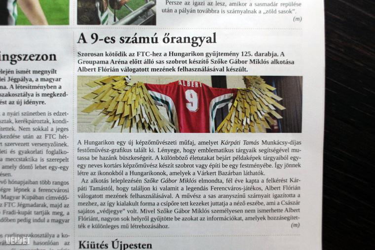 Bizonyára nem lenne nehéz kitalálniuk, hogy ez a príma cikk és fotó a Ferencvárosból származik