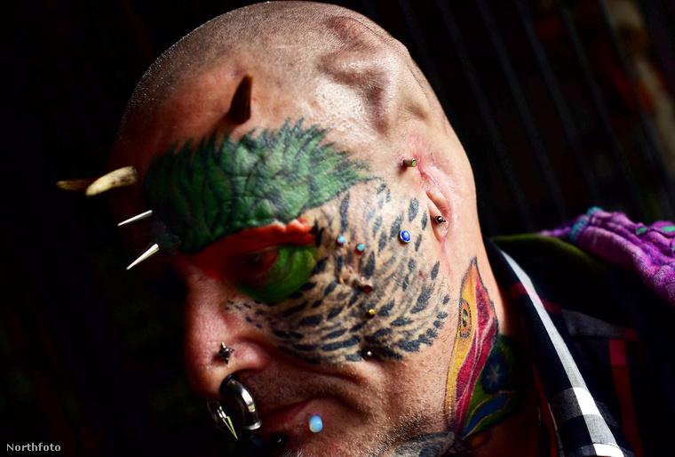 A fületlen papagájember most, hogy már begyógyult a sebe