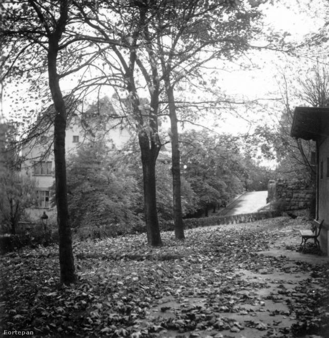 1936,  Kemenes utca 14., Rosenfeld villa (Vidor Emil, 1909) a Gellért Gyógyfürdő fölött, a Kelenhegyi út sarkánál