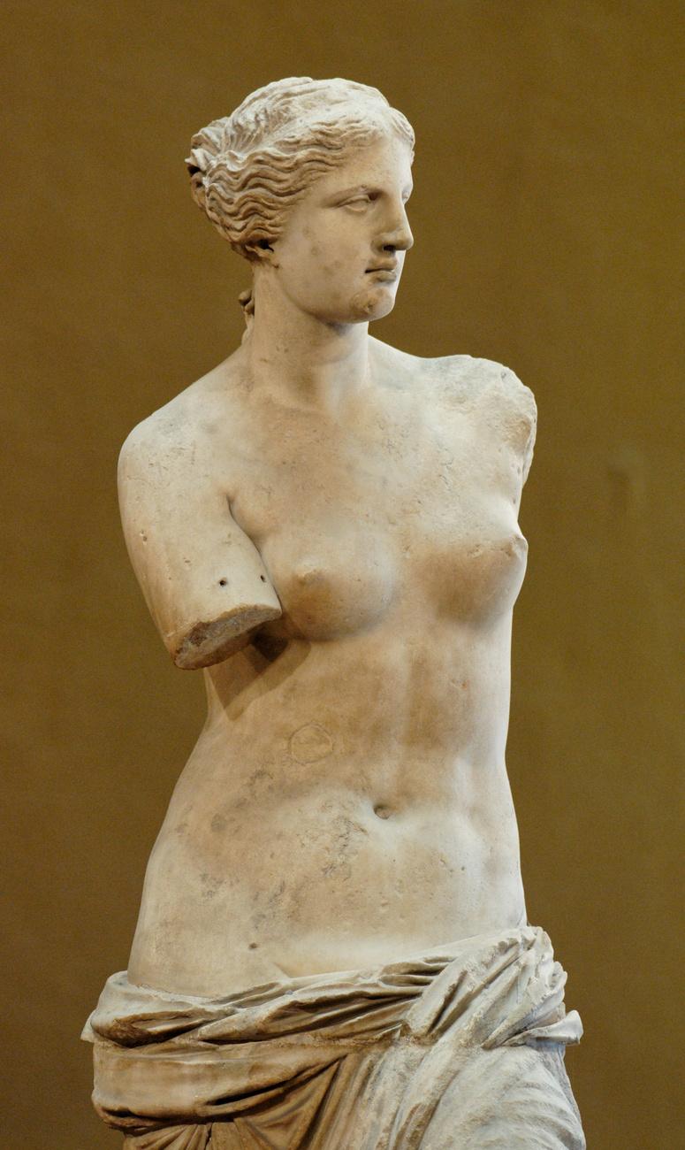 A milói Vénusz az ókori görögöktől maradt ránk, az akt ie