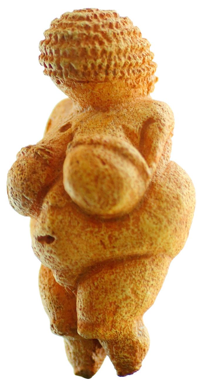 A Willendorfi Vénusz a legkorábbi fennmaradt női akt, az időszámításunk előtt kb