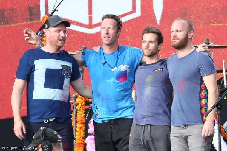 A Coldplay lett a legjobb rockzenekar.A kép nem az EMA-n készült.