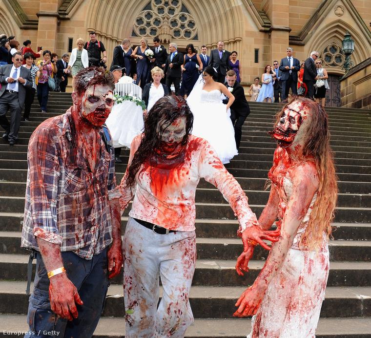 Elmentek egy esküvőre is, feldobták a násznépet, és akkor jöjjön a séta!