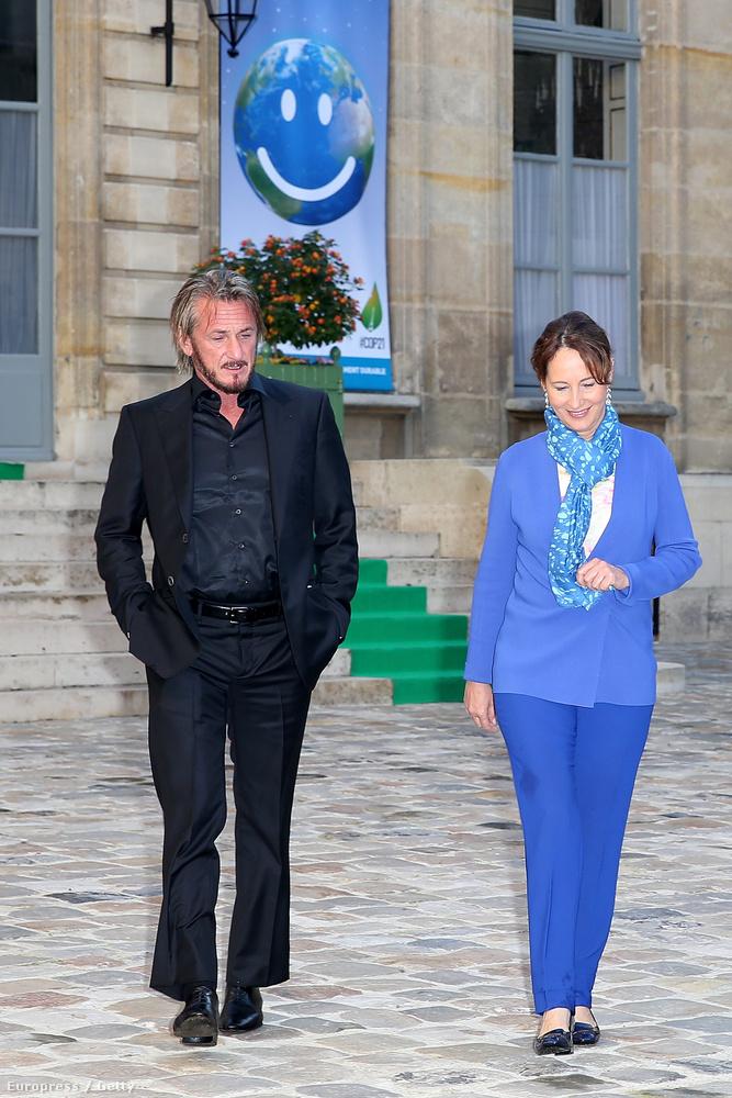 A színész Franciaországban járt, ahol Ségolène Royal, az ország környezetvédelmi minisztere fogadta.