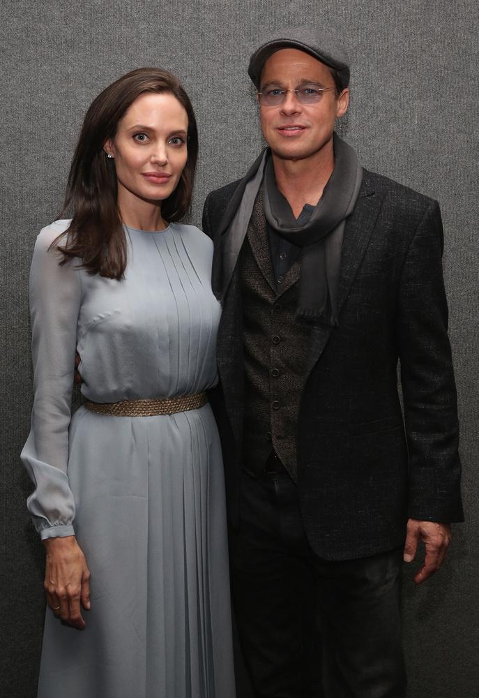 Brad Pitt és Angelina Jolie A tengernél című filmjük vetítésén vettek részt New Yorkban