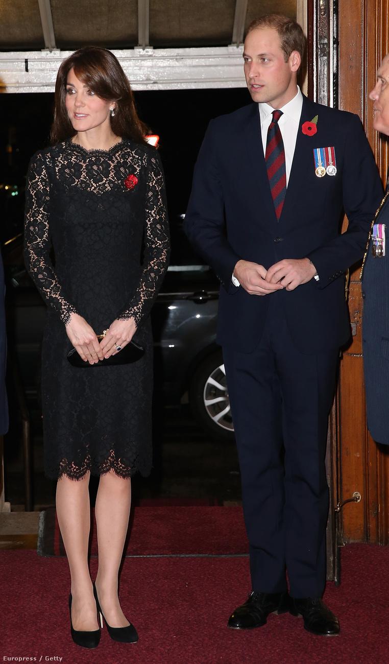 A britek november 11-én emlékeznek meg a fegyverszünet napjáról, a légió hivatalos eseményén ott volt Vilmos herceg és Katalain hercegné is