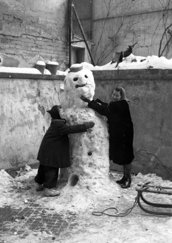 Retek utcai hóember 1946-ban