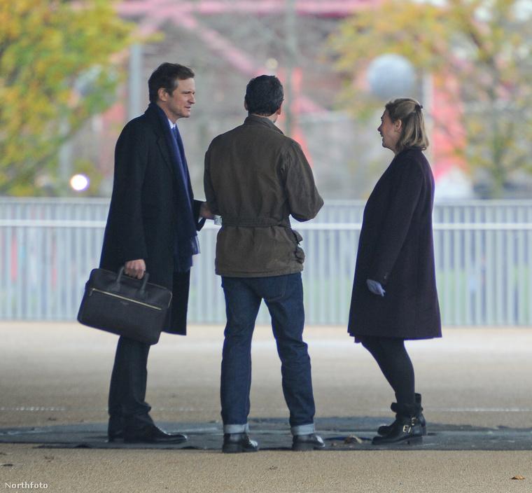Szóval ezek a képek a forgatáson készültek, és a háttal álló úriember, aki Bridget Jones új pasiját alakítja, nem más, mint...
