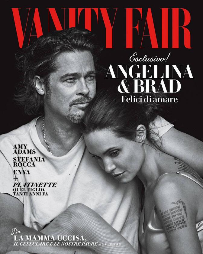 De a hét legszebb fotója egyértelműen Brad Pitt és Angelina Jolie címlapfotója lett