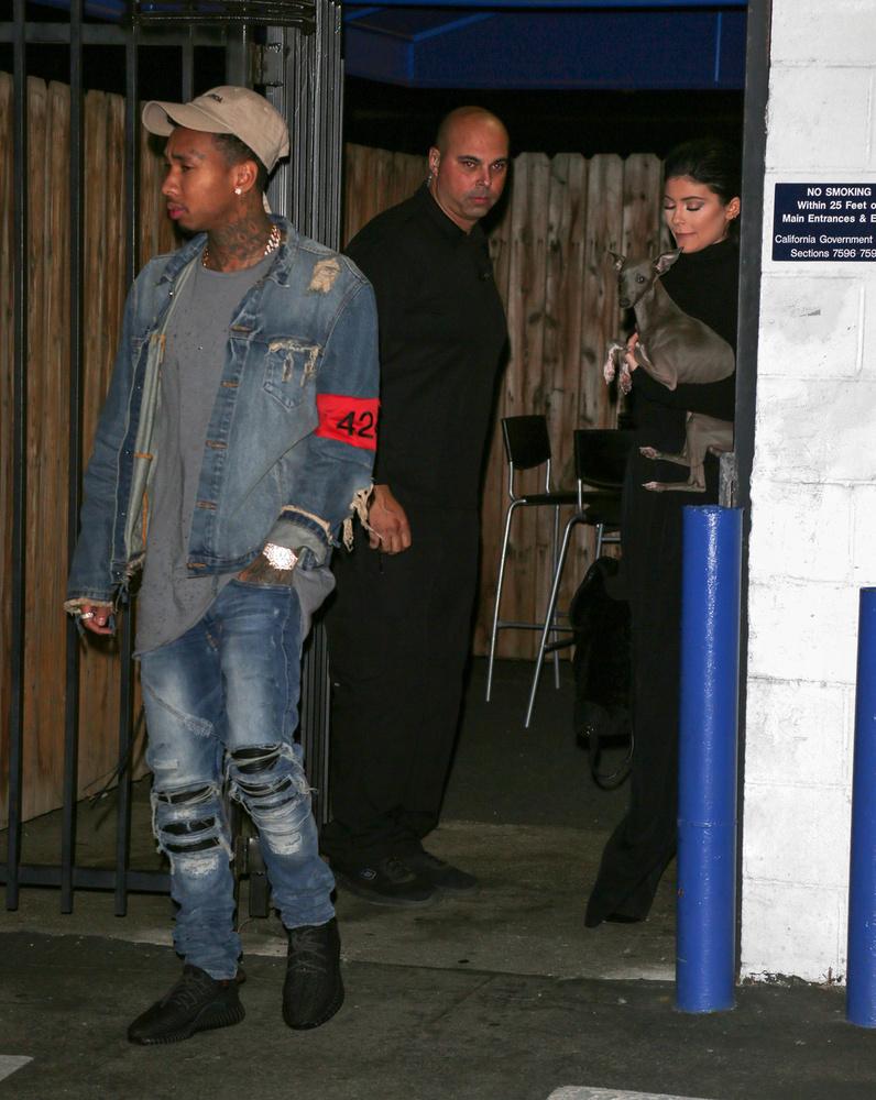 Jenner a kutyát szorongatja, nem Tygát