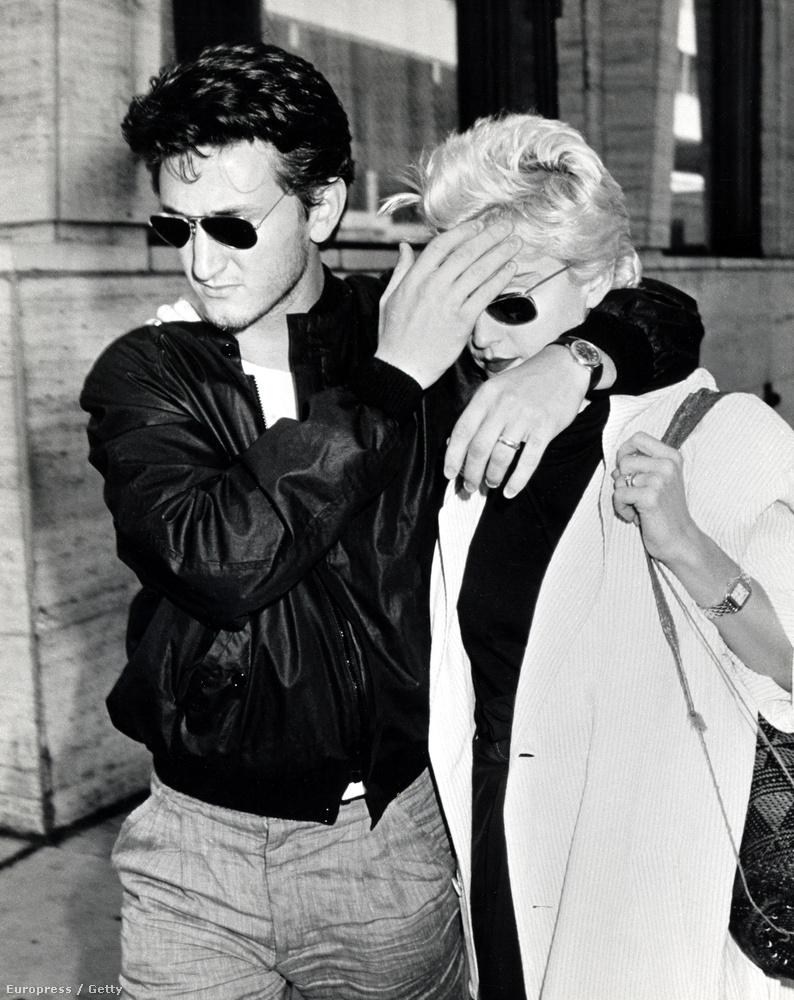 Sean Penn és Madonna 1986-ban.