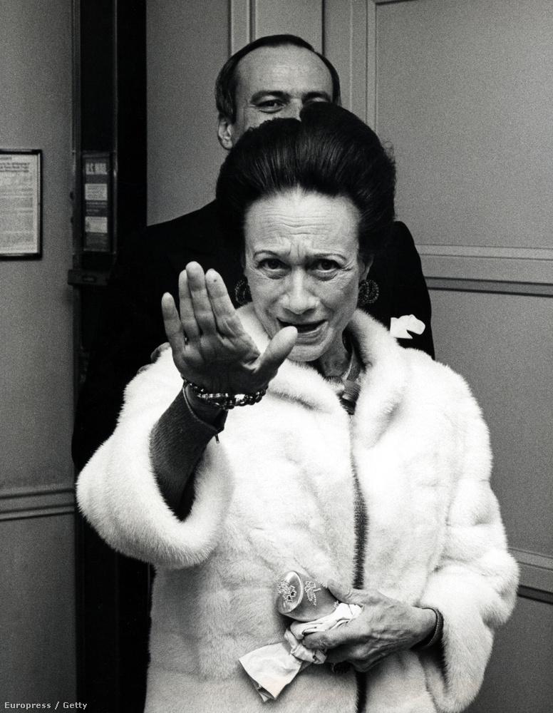 Wallis Simpson vagyis az egykori windsori hercegnő 1974-ben, aki miatt VIII