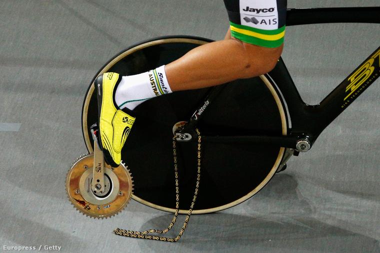 A kép idén készült a párizsi pályakerékpáros világbajnokságon