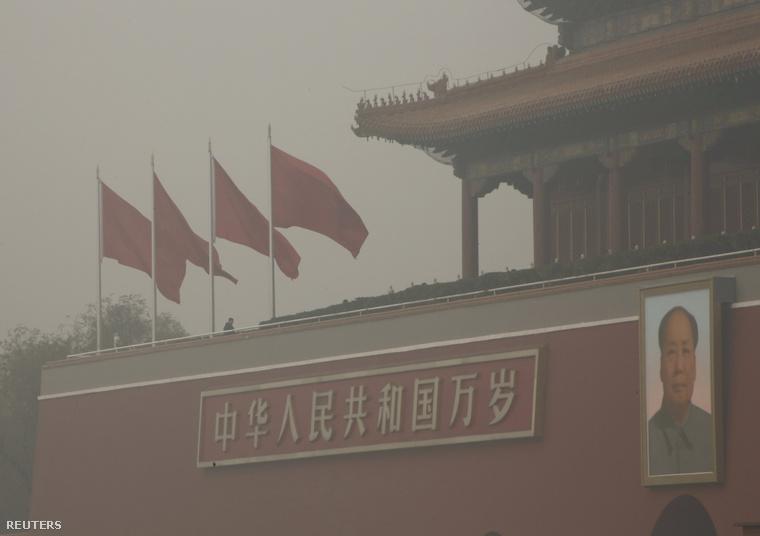 Kínában narancssárga jelzetű szmogriadó van érvényben