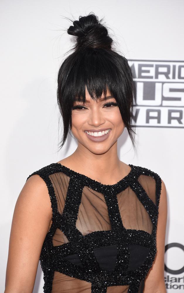 A képen látható hölgy pedig Chris Brown egyik exe, Karrueche Tran