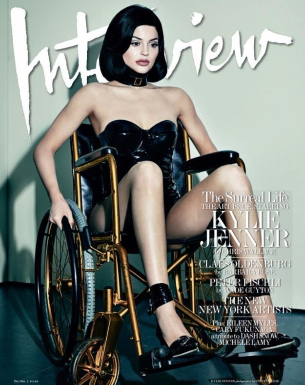 Szintén decemberi Kylie Jenner Interview-címlapja is, amivel sokaknál csapta ki a biztosítékot...de még mindig nincs vége...
