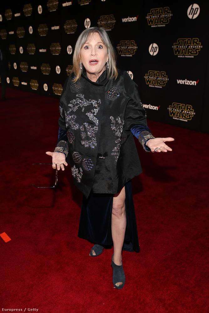 Carrie Fisher lányát, Billie Lourdot láthatta