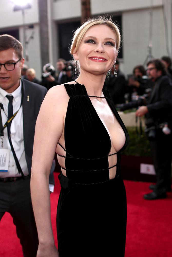 Kirsten Dunst színésznő a Golden Globe-on