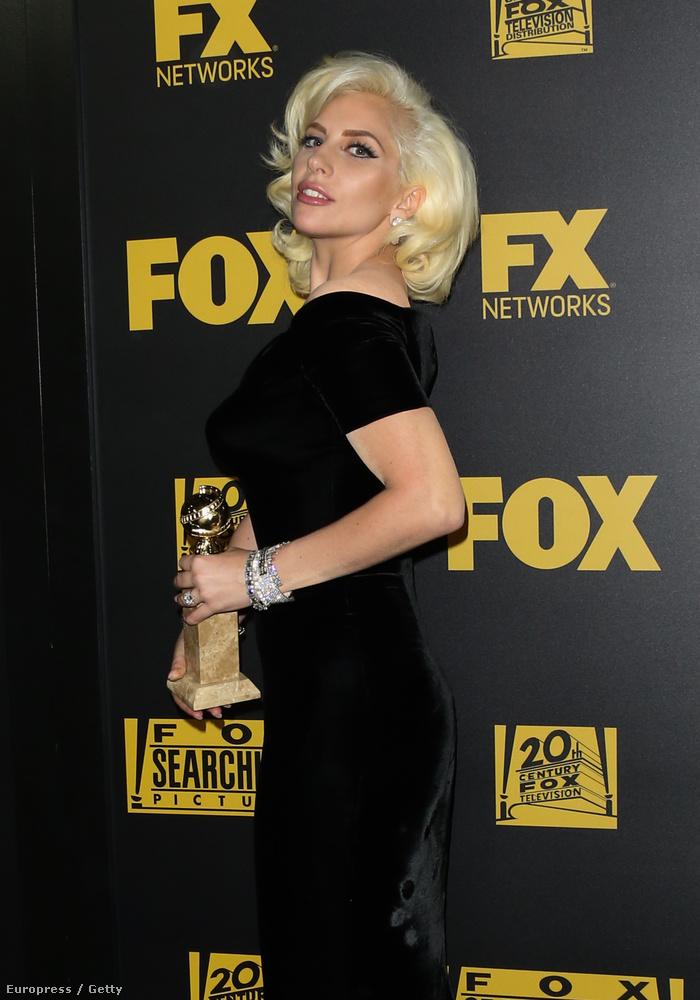 Lady Gaga kapott egy Golden Globe-ot, mert nagyon jól játszik az American Horror Story című sorozat legutóbbi évadában