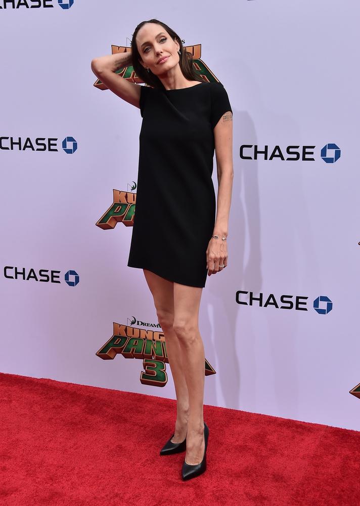 A színésznő családjával érkezett a Kung Fu Panda 3 hollywoodi premierére