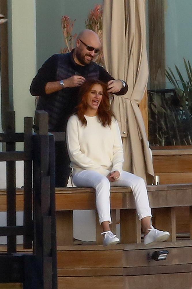 Malibuban fotózták a színésznőt, amit láthatóan eléggé élvezett