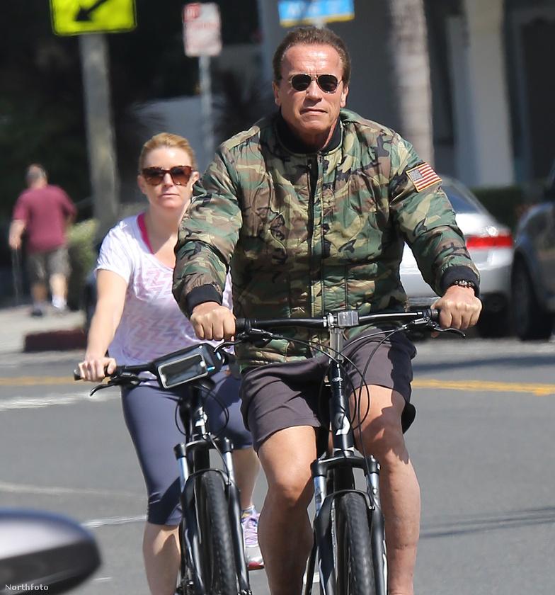 Schwarzenegger barátnője csak mögötte kullog