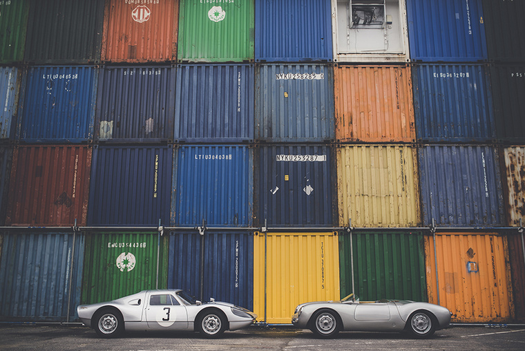 Porsche 904 és 550 Spyder