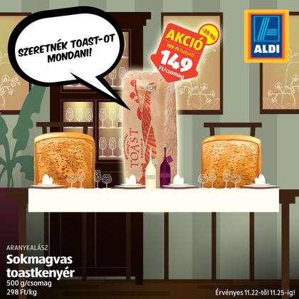 A Hahota magazin könyörög a receptértA toastkenyér toastot mond.