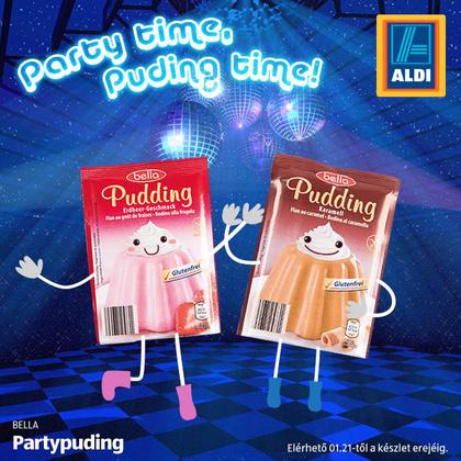 Semmi köze a fiatalok bulizási szokásaihoz, itt egy Partypudingot kell eladni.